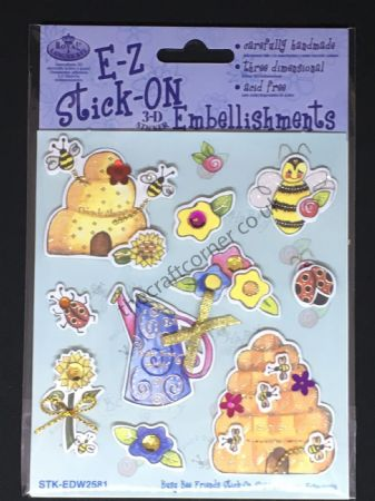 Busy Bee Friends Glitter and Gem E-Z Stick-On Embellishments